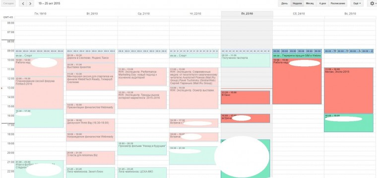 Как именно я использую Google Calendar
