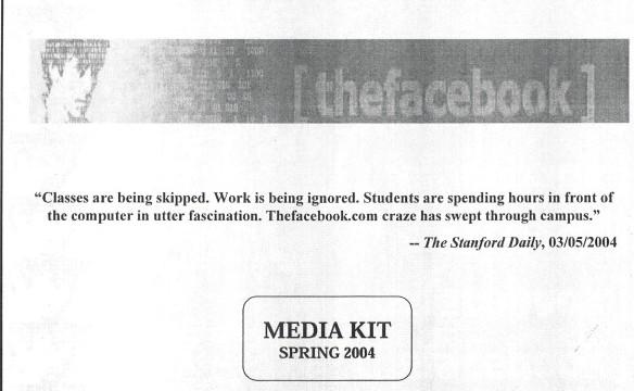Первая презентация Facebook для рекламодателей (2004 год)