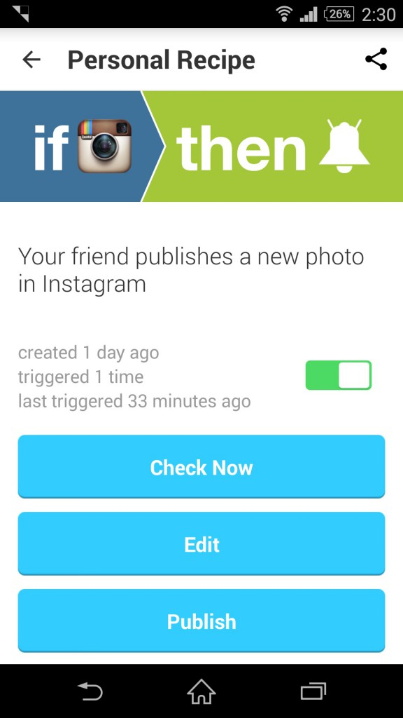 Instagram-IFTTT