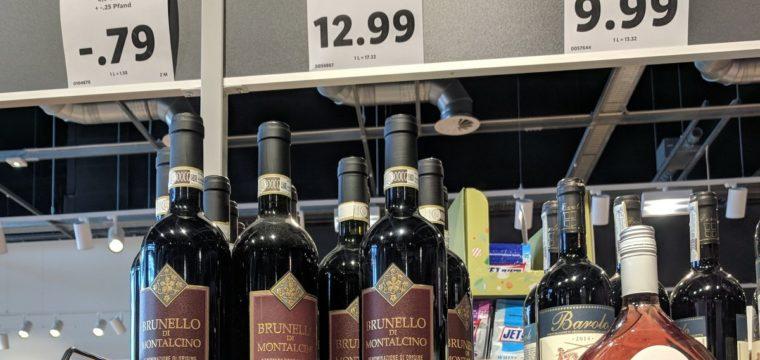 Цены в немецком магазине